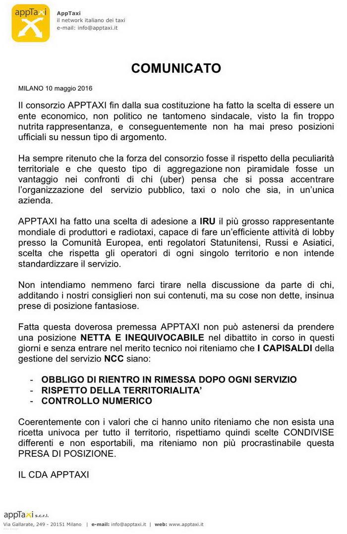 comunicato consorzio apptaxi_10-05-2016